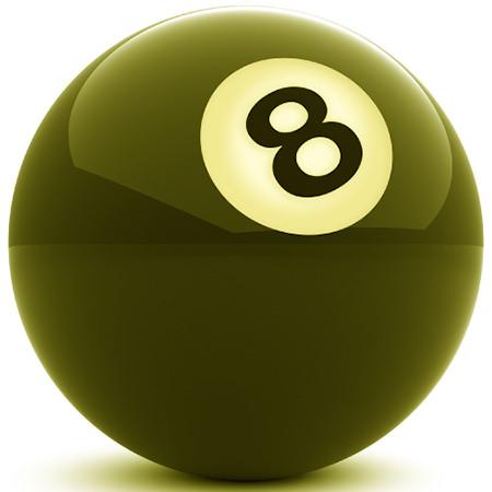olive green pool 8 ball
