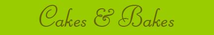 'Cakes & Bakes' blog post banner