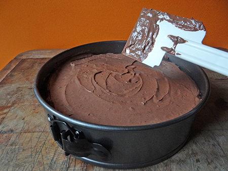 Uncooked triple chocolate cheesecake   @hisforhome