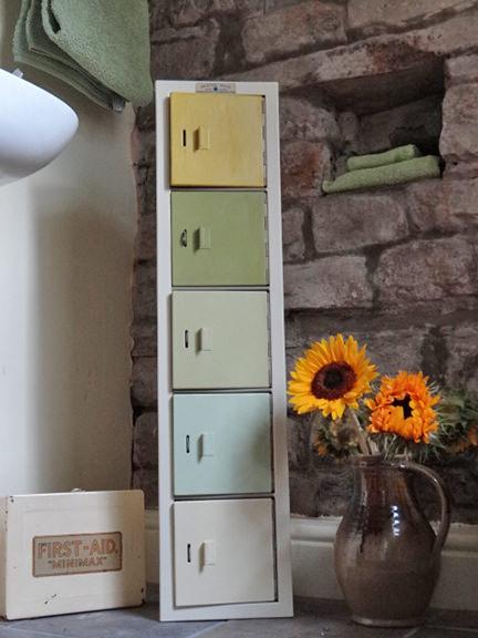 repainted vintage Bristol Maid Hospital Equipment locker