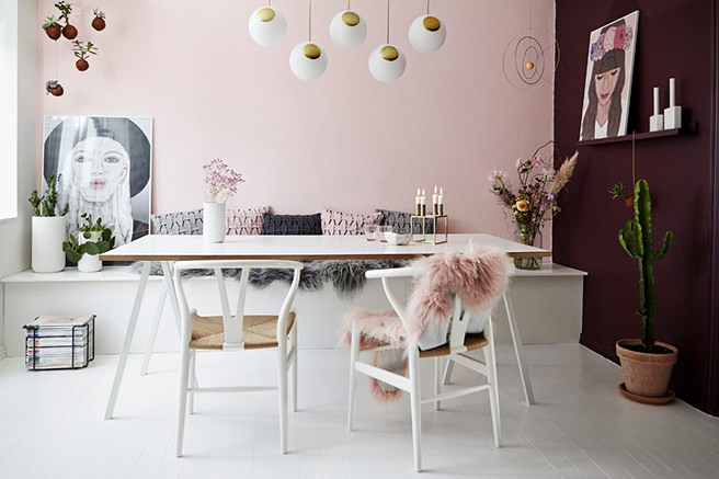 Get their look feminine scandi dining room h is for for Altrosa wand