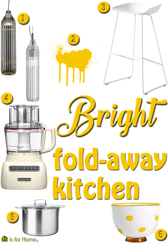 Get their look Bright fold away kitchen H is for Home  : get bright fold away kitchen from hisforhomeblog.com size 656 x 950 jpeg 117kB