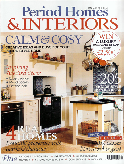 Period Homes & Interiors magazine cover, January 2011