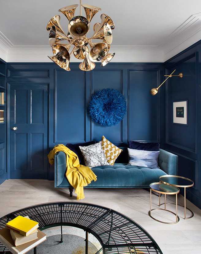 Get Their Look Shades Of Blue Sitting Room H Is For