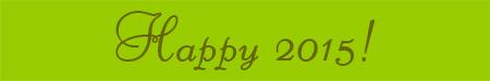 'Happy 2015!' blog post banner